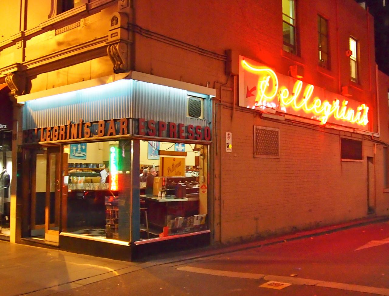 Pellegrini's espresso bar Melbourne