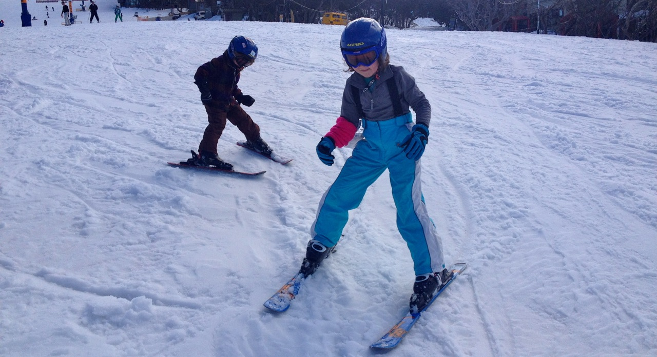Mt Buller Ski School - the kids first time skiing