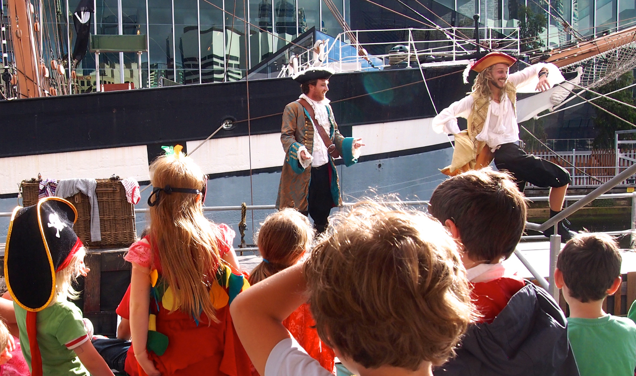 Caribbean Pirates at the Polly Woodside