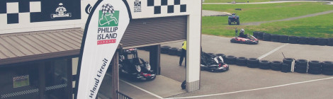 Go Karts on Phillip Island's Grand Prix Circuit
