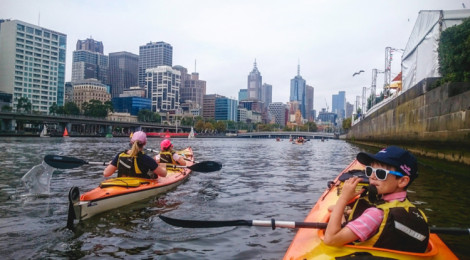 See the city from a unique viewpoint with Kayak Melbourne